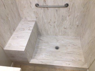 Transolid Rbe3667 91 36 X 36 X 72 Solid Surface Shower Wall