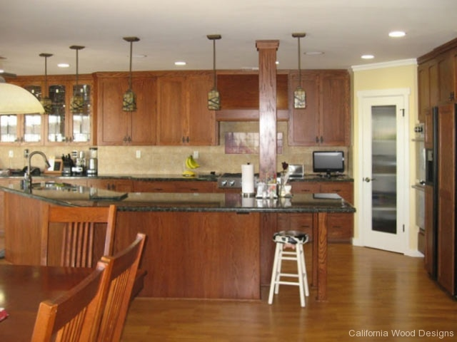 Red Oak With Custom Cherry Stain   Custom Kitchen Cabinets In Huntington  Beach, CA