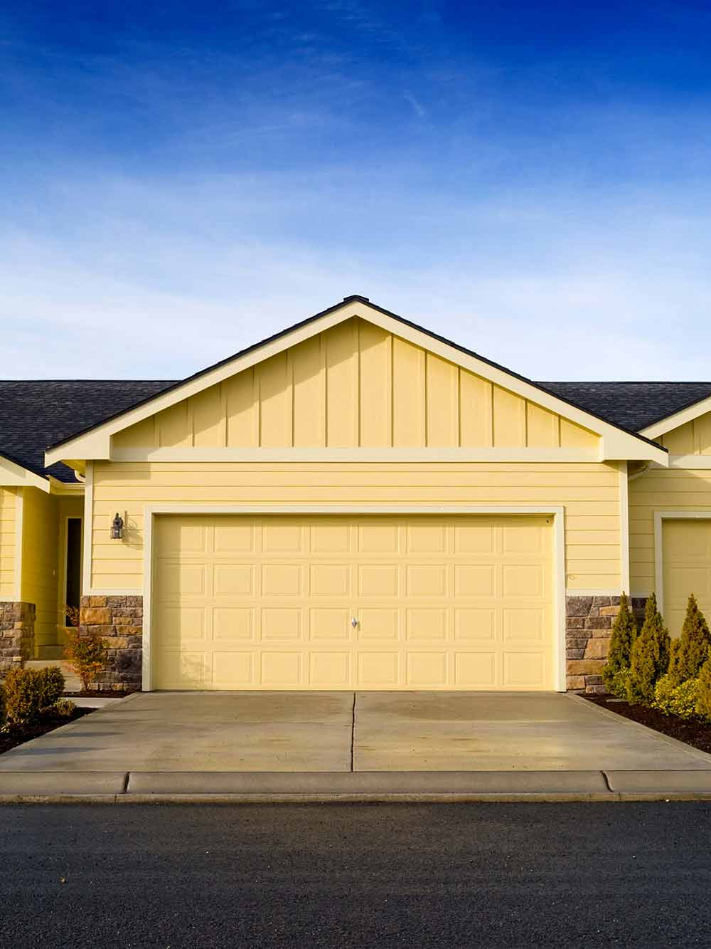 Garage Of A Newly Constructed Home   Garage Door Repair In San Bernardino,  CA