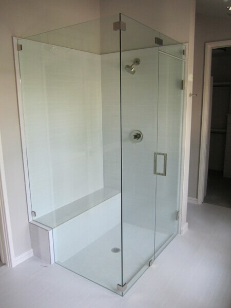 Glass Bathroom With Shower U2014 Mirror U0026 Glass Services In Addison, ...