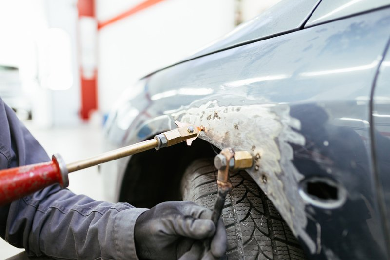 Auto Body Repair Services — Procedure Before Painting The Car in Riverside, CA