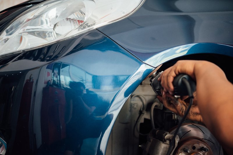 Car Body Paint — Checking Car Fiber in Riverside, CA