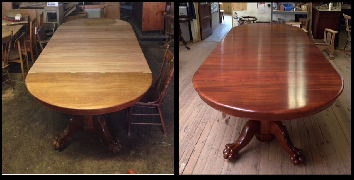 Dining Table   Antique Repair In Portland, OR