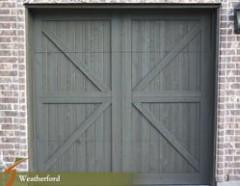 Custom Cedar Wood Garage Doors Weatherford2