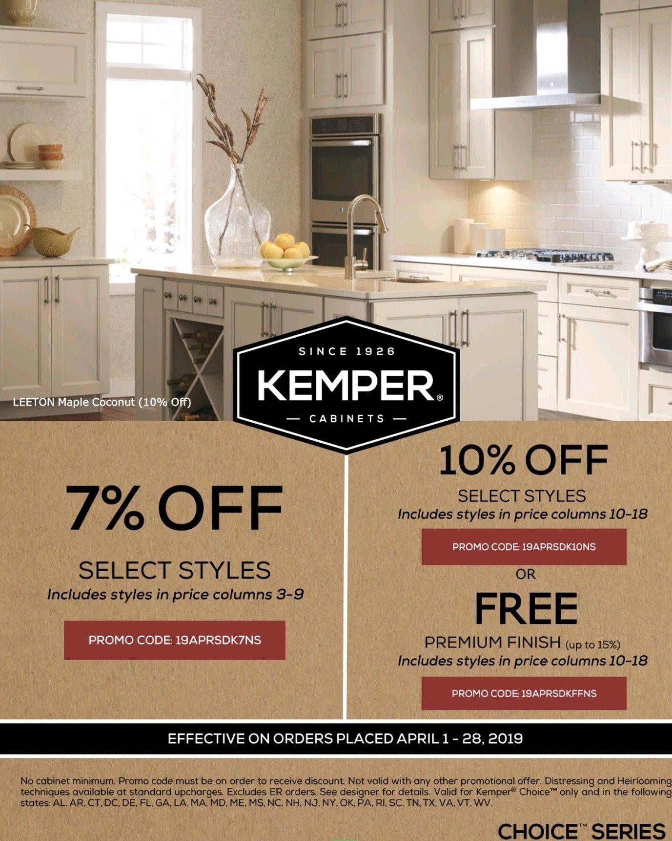 Kemper Cabinet Spring Savings