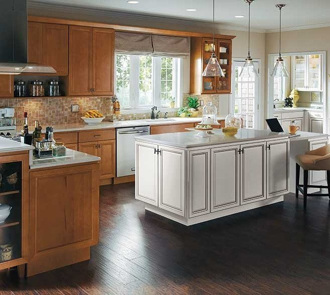 Stain Cabinets White Island