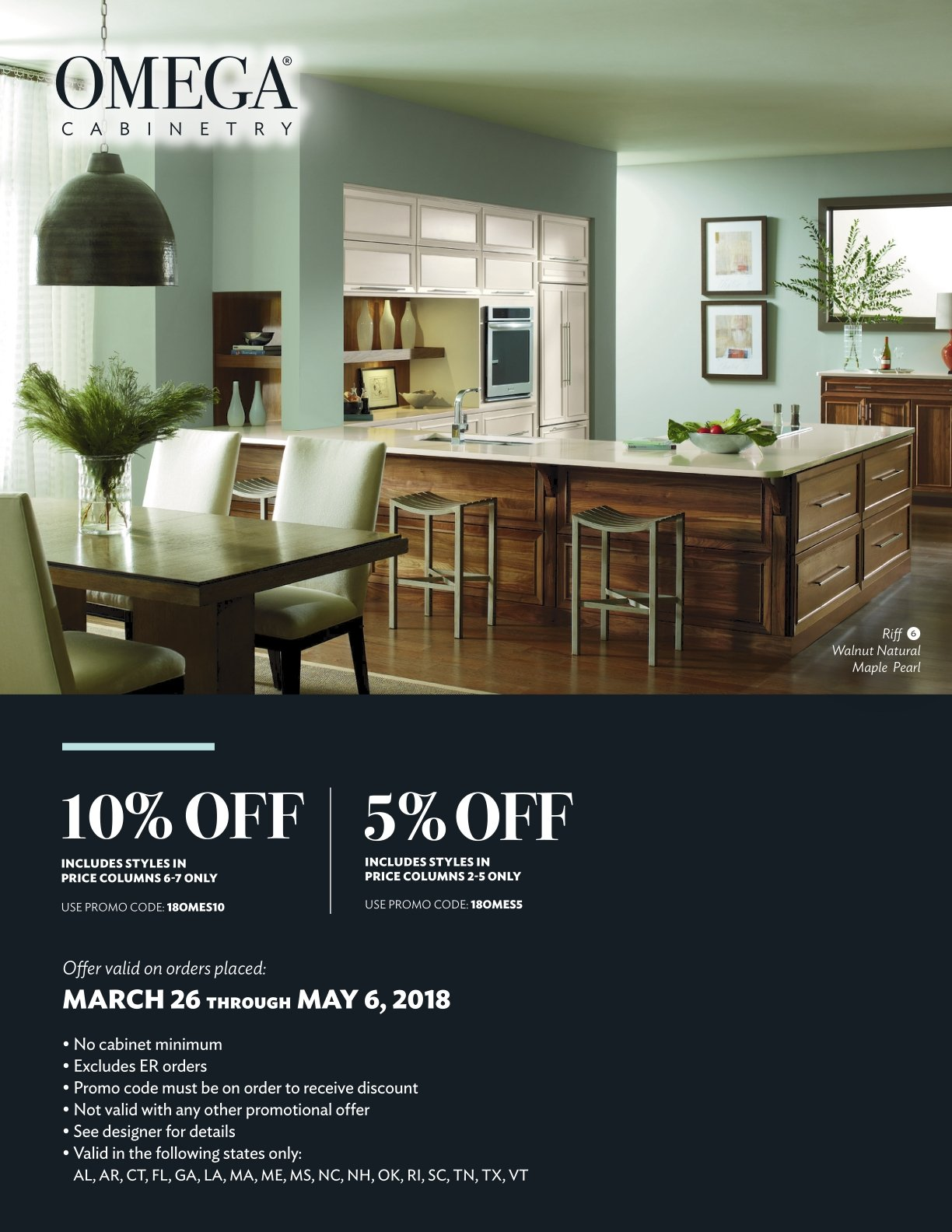 Omega Cabinetry\'s Spring Savings
