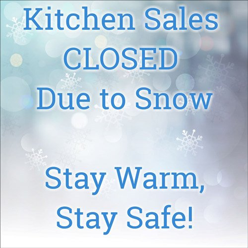 Kitchen Sales Knoxville TN CLOSED Today Due to Snow