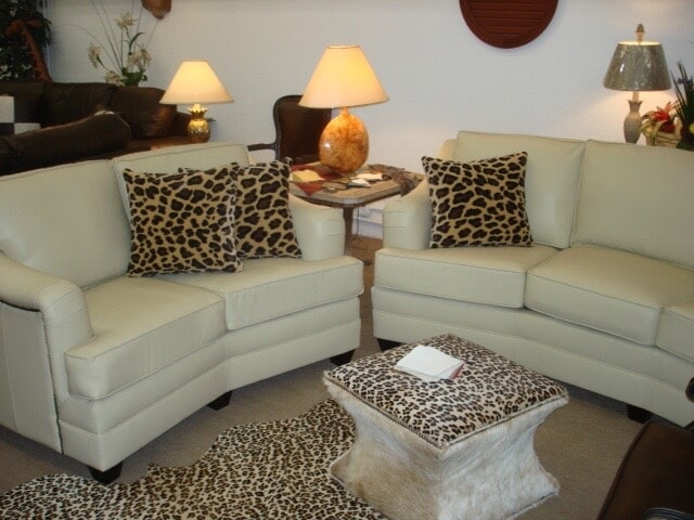 Ivory Leather With Cheetah U2014 Furniture In Hickory, NC