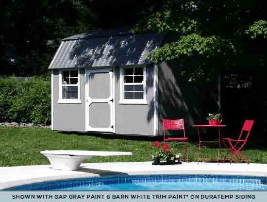 Gray Painted Storage U2014 Storage Sheds In Spokane, WA