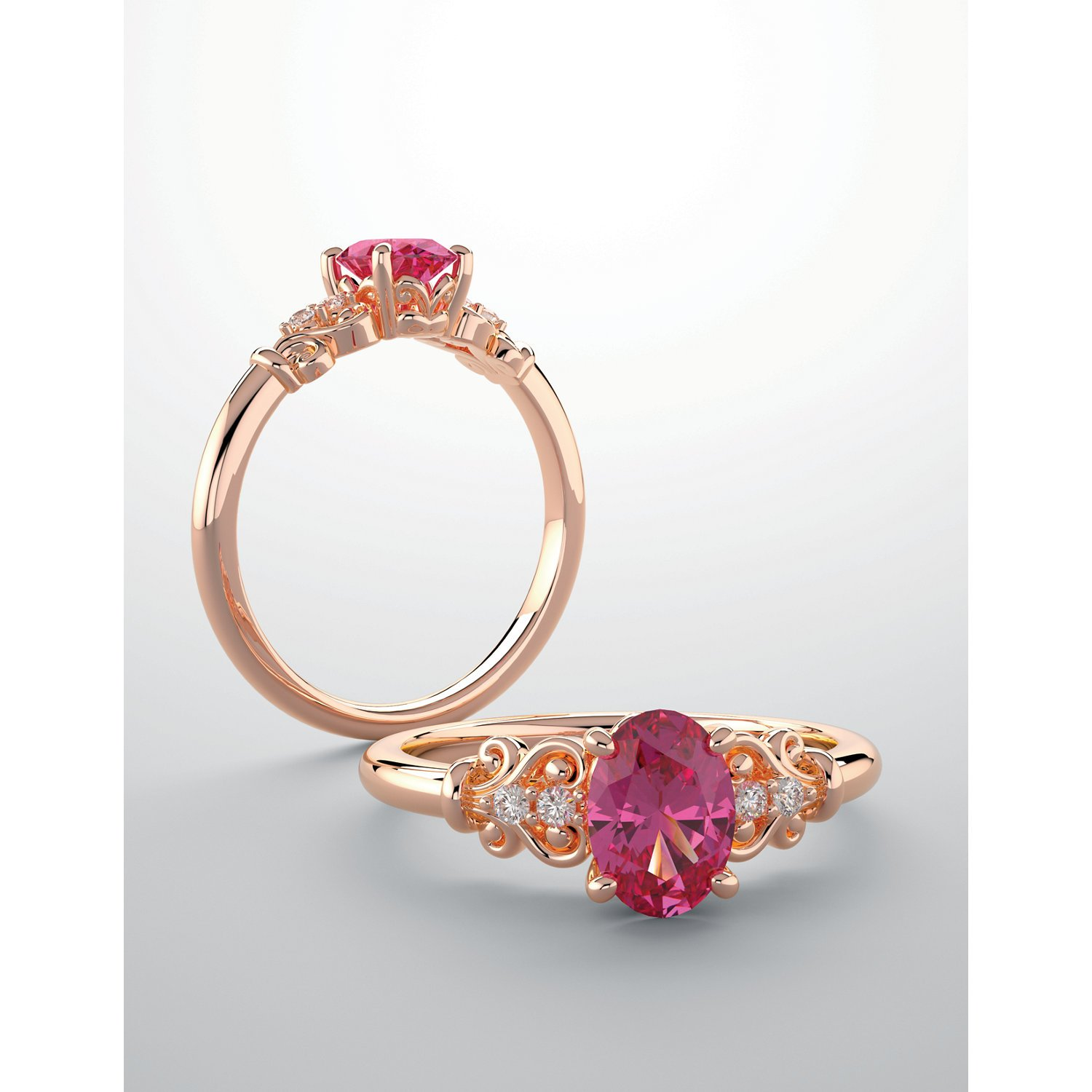 Intelligent Royal Romance Cz Ring Lustrous Surface Other Wedding Jewelry