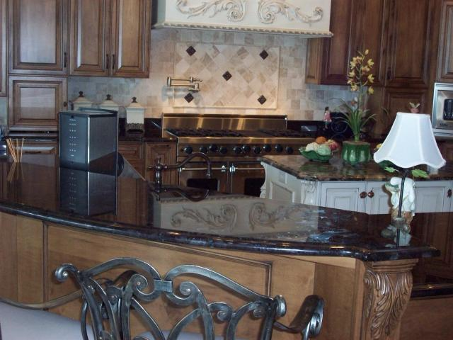 Black Kitchen Countertop   Granite Countertops In Tampa FL