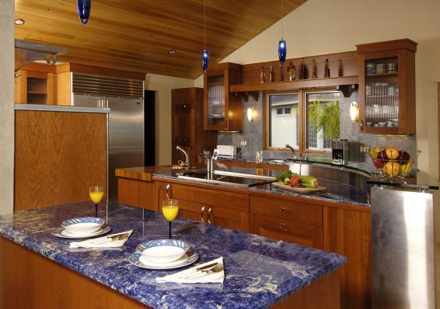 Kitchen Blue Countertop   Granite Countertops In Tampa FL