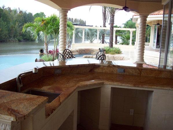 Outdoor Kitchen Countertop   Granite Countertops In Tampa FL