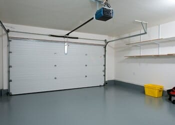 Metal White Garage Door U2014 Concrete Repair In Eugene, OR