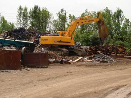 Crane on Site — Buy Scrap Metal in Saginaw, MI
