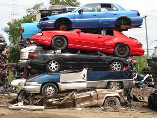 Pile of Junk Cars — Buy Scrap Metal in Saginaw, MI