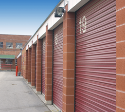 Beau Row Of Red Storage Doors