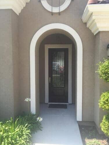 Entry door with Barcelona Decorative glass - door store in Sacramento ... & High Quality Door Work | Sacramento CA | New Door Store