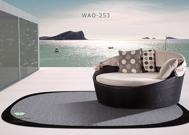 Black and Beige Single Soda - Florida Dining Room Furniture in Naples, FL - Patio Furniture-Naples, FL -Naples Furniture Liquidators