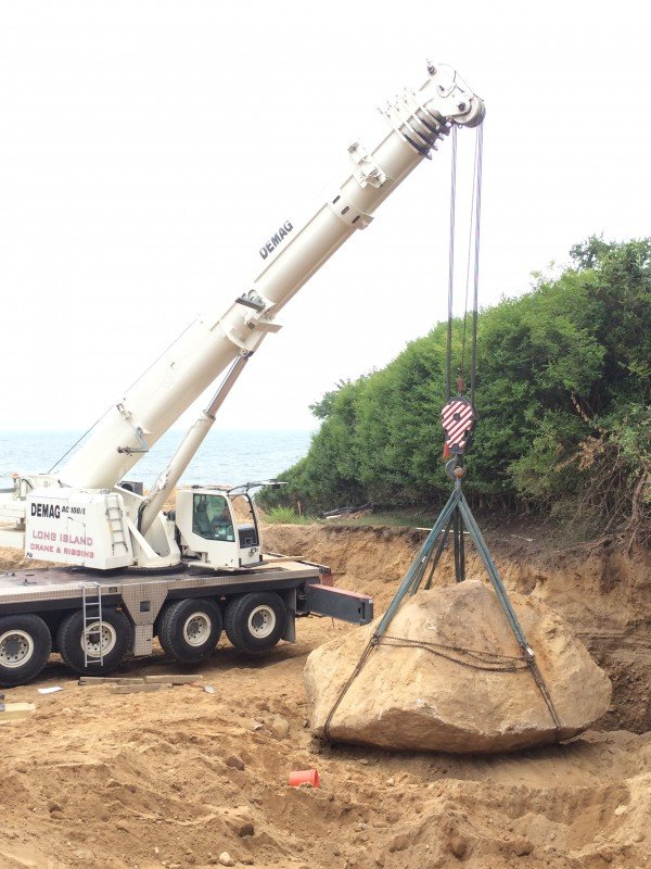 120 Ton Demag With 120,000 lb Rock In Hampton Bays