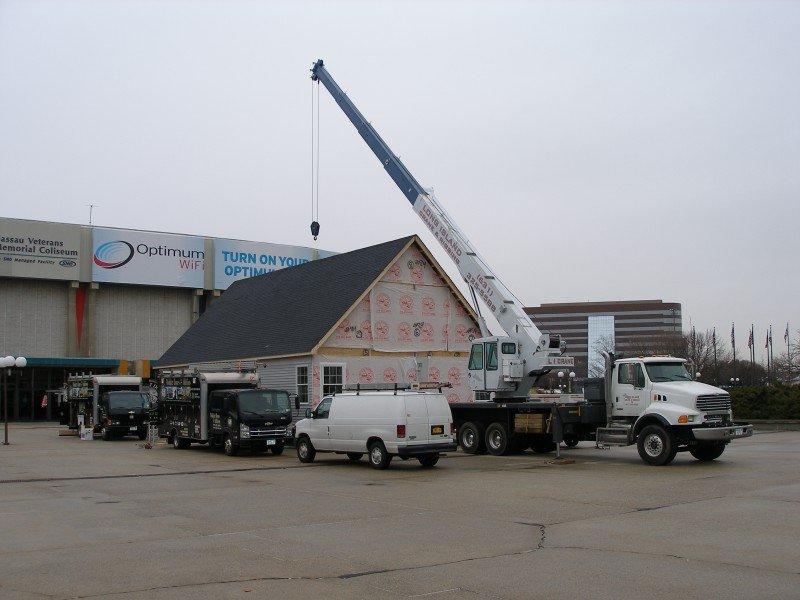 Assembling A Model Modular Home At Nassau Coliseum