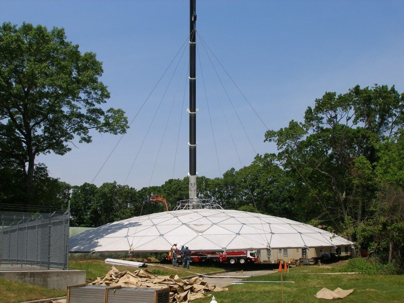 Rigging A 110' Diameter Aluminum Dome On A Water Tank In Bethpage