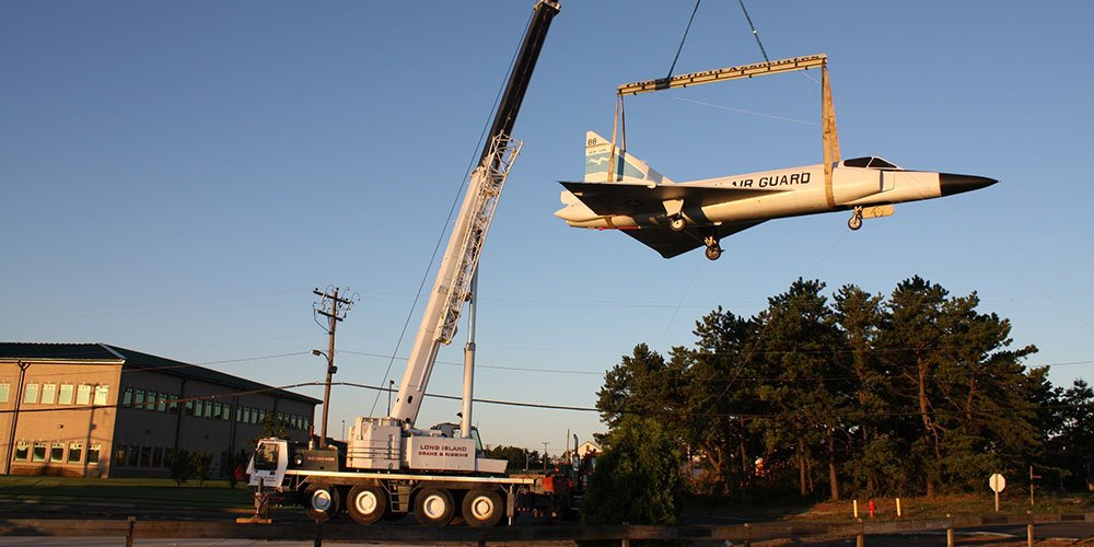100 Ton Grove Relocating An Aircraft At Westhampton Airport