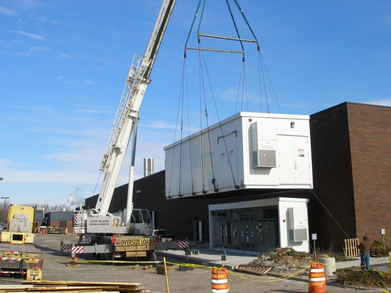 100 Ton Krupp Setting Electrical Switch Gear In Port Washington