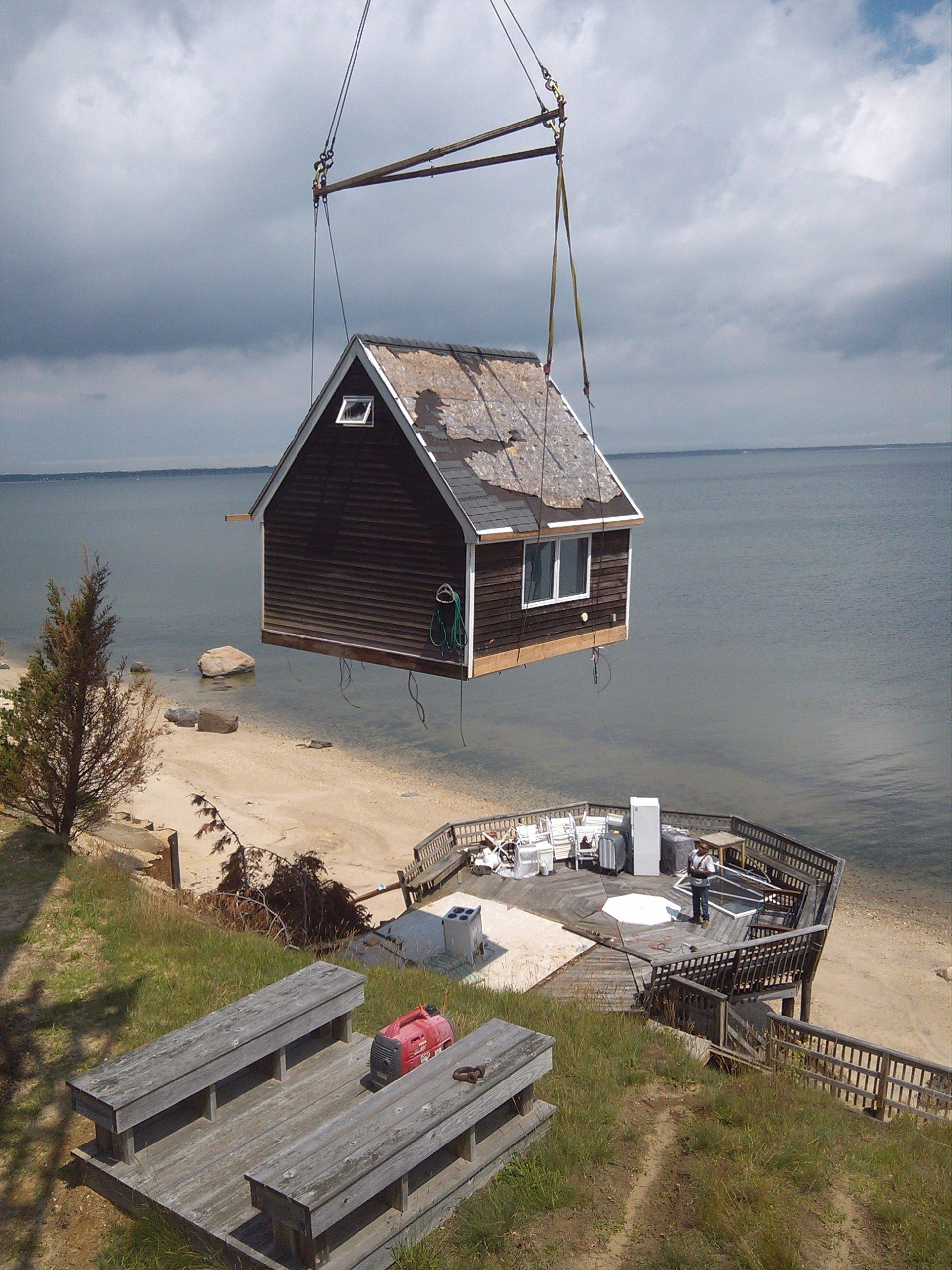 Removing a Cabana For Repair In Hampton Bays