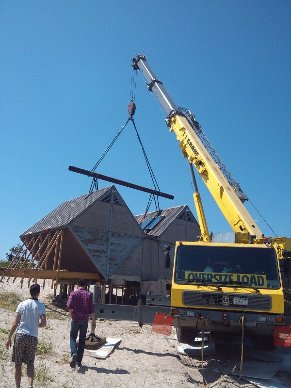 100 Ton Grove Moving An Historical House With A Pipe Spreader Bar