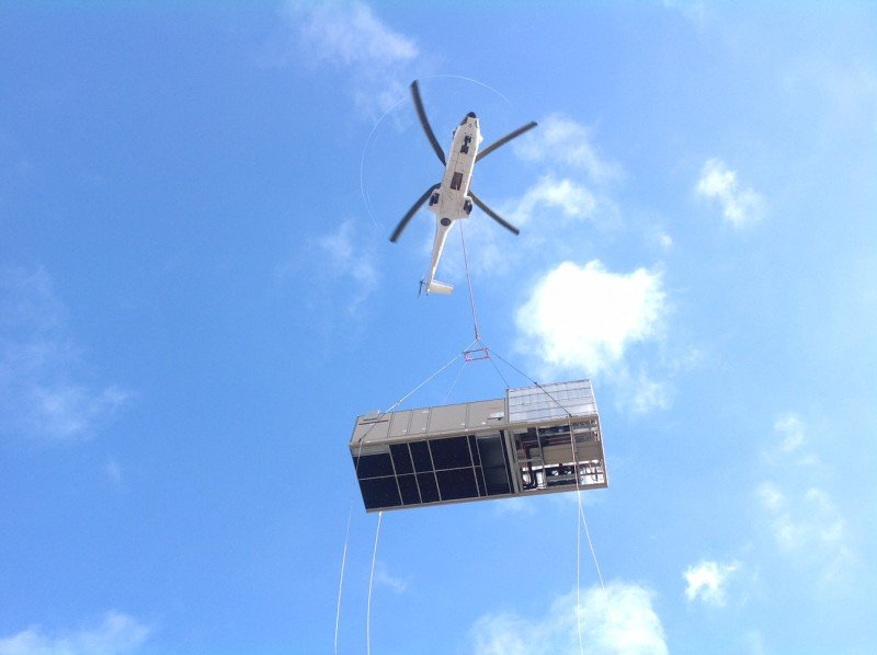 Transportation And Rigging For Helicopter Placement Of HVAC Equipment In Lake Success