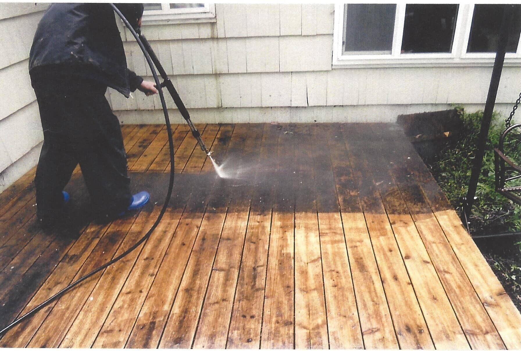 High Quality Cleaning Terrace With A Pressure Washer U2014 Super Handyman In Eugene, OR