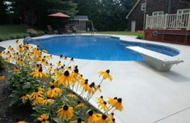 inground pools with hot tubs. Flowers And Swimming Pool - Inground In Lewiston, ME Pools With Hot Tubs