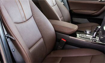 Brown Leather Car Seat Auto Upholstery In Albuquerque NM
