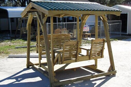 Swinging Bench With Roof   Patio Furniture In Brandon, FL ...