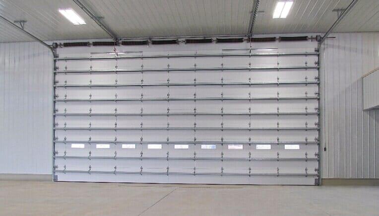 White Garage Door \u2014 Commercial Garage Doors in Florence NJ & Commercial - Florence NJ - Russell Garage Door Co. Inc.