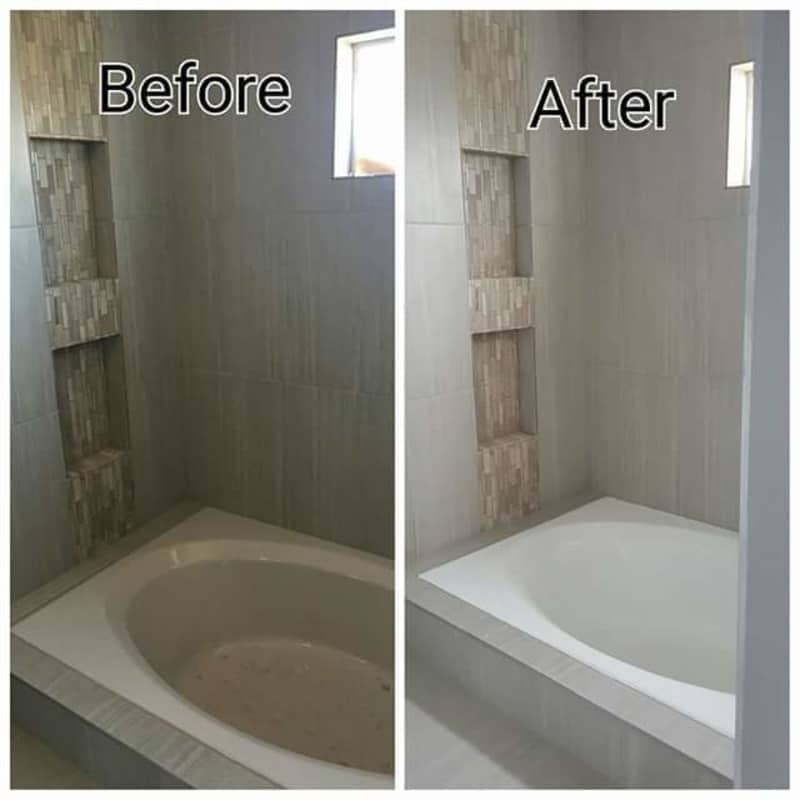 Beau Bathroom Before And After   Refinishing Service In San Antonio, TX