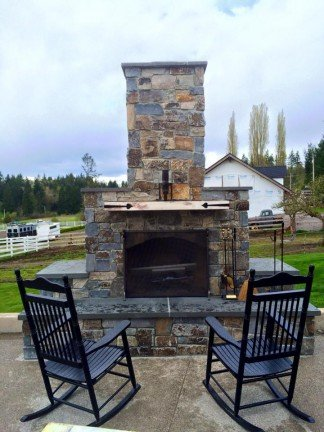 Fire Place - New Home Construction in Kitsap County, WA