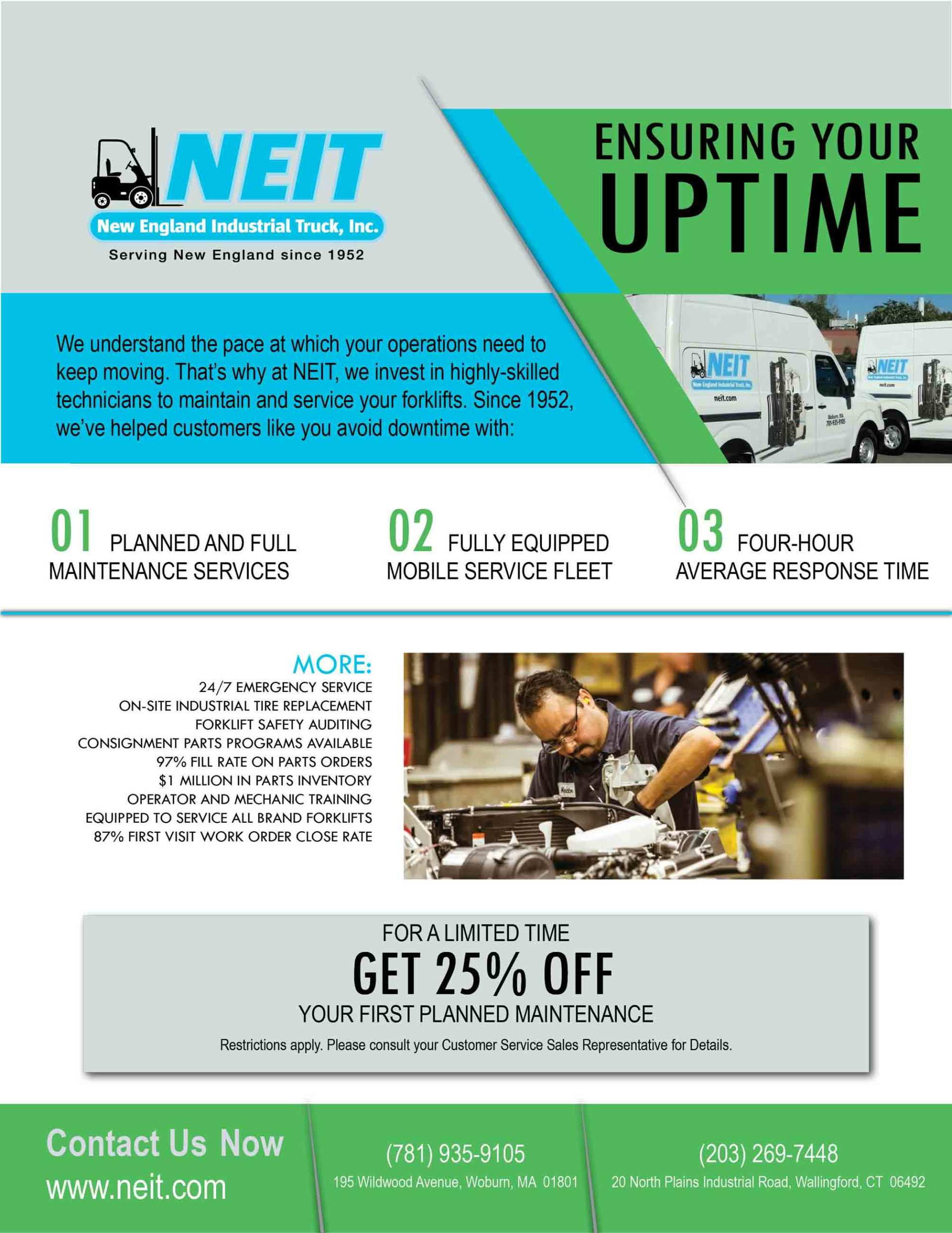 Forklift Service Designed To Ensure Your Uptime