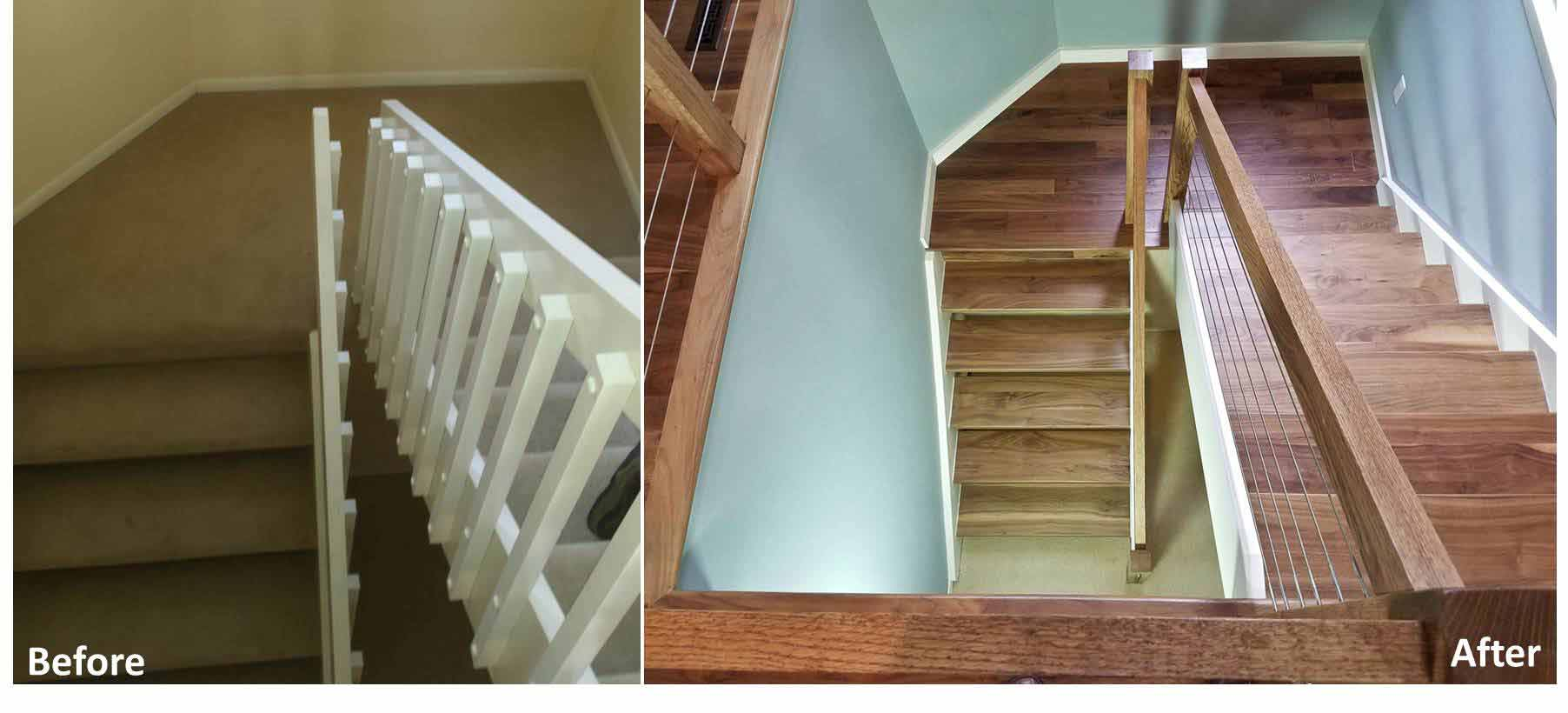 BEFORE & AFTER STAIRCASE AND RAILING DESIGN IDEAS | MADISON WI |DC ...