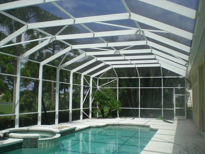 Pool Enclosures Screen Rooms Port Saint Lucie Fl K S Industries Inc