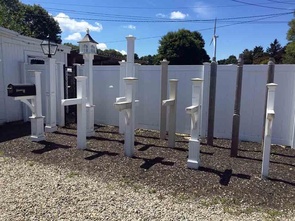Mailbox posts lantern posts kingston ma east coast fence inc mailbox lamp post displayvinyl in kingston ma aloadofball Images