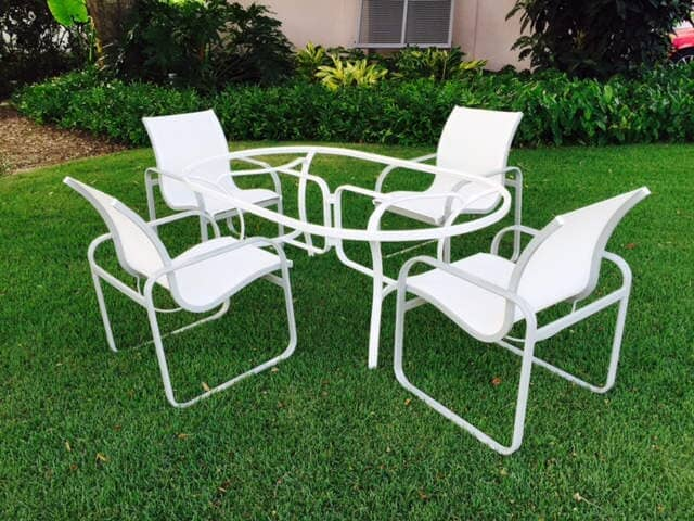 White Chairs And Table   Outdoor Furniture Repair In Bonita Springs, FL