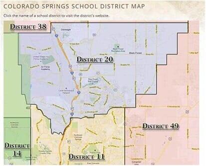 colorado springs school districtsmap   Colorado Springs, CO