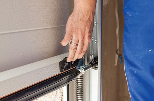 Gentil Contractor Checking Garage Door During Installation   Garage Door  Installation In Peoria, IL