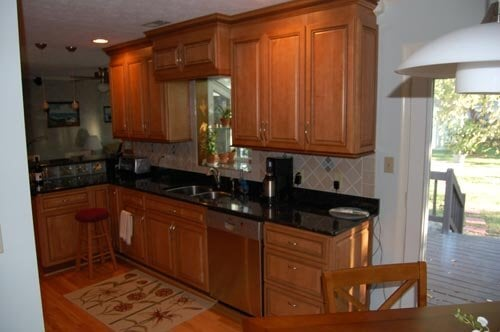 Charmant Kitchen With Wood Cabinets U2014 Kitchen Remodeling Services In Newport News, VA