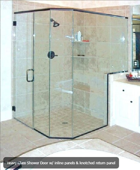 Standard Heavy Glass Showers Oakland MD Mountain Top Glass - Commercial bathroom enclosures