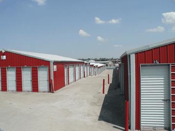 Red Storage Warehouse U2014 Side View Shot In Nicholasville, KY