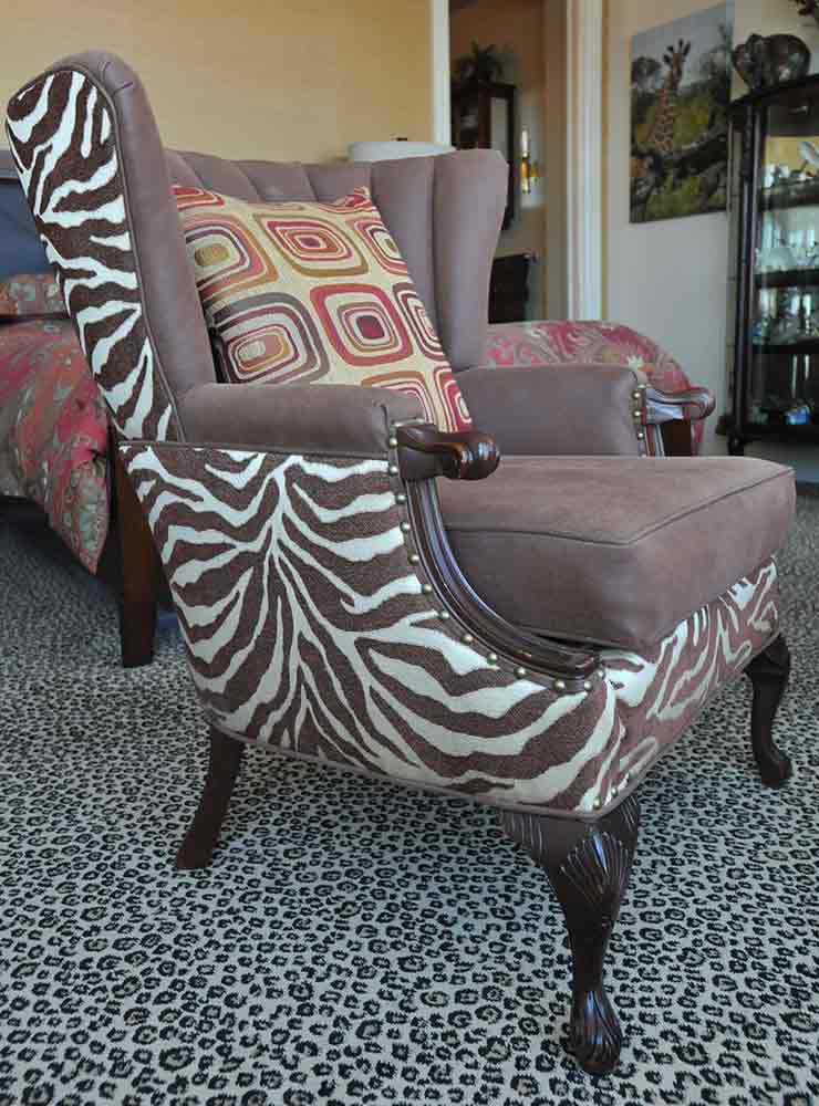 Reupholstered Chair   Furniture Restoration In Jersey City, NJ